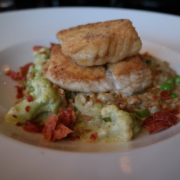 Semolina Crusted Alaskan Halibut - Wood Tavern, Oakland, CA