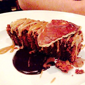 10-Layer Chocolate Cake with Old-Fashioned Caramel Icing and Toffee Crunch - Chef and The Farmer, Kinston, NC