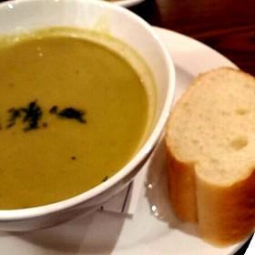 Pea & Asparagus Soup - South Water Kitchen, Chicago, IL
