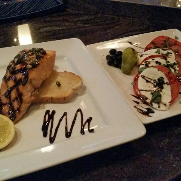 Atlantic Salmon With Side Caprese Salad - Tosca Ristorante - Ottawa, Ottawa, ON