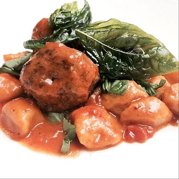 Smoked Sweet Potato Gnocchi With Lamb Meatballs - Blu Ristorante, Toronto, ON