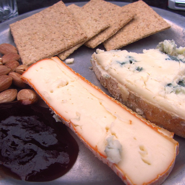 Cheese, Oat Biscuits, Quince Jelly - Petersham Nurseries Cafe, Richmond, Greater London