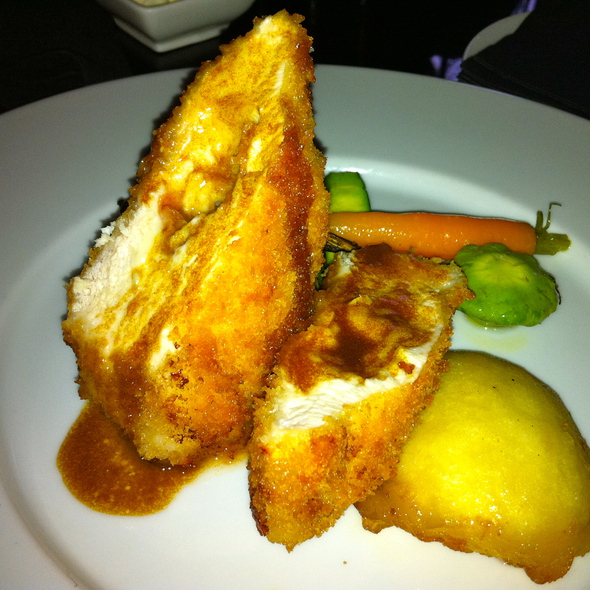 panko crusted roulade of chicken - Brassaii, Toronto, ON
