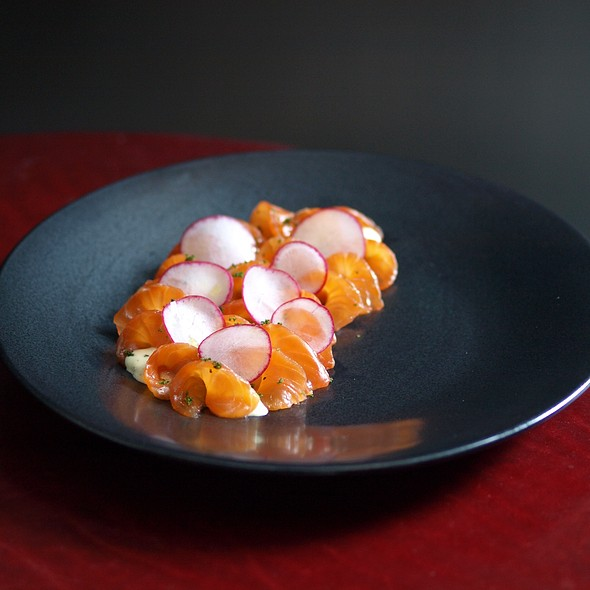 salmon carpaccio - Casa Lever, New York, NY