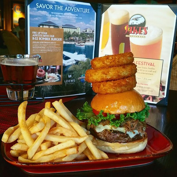 B52 Bomber Burger - Jake's American Bar at Loews Royal Pacific Resort, Orlando, FL