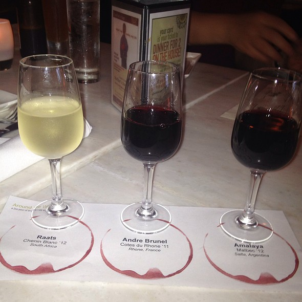 International Wine Flight - Nage Restaurant, Washington, DC