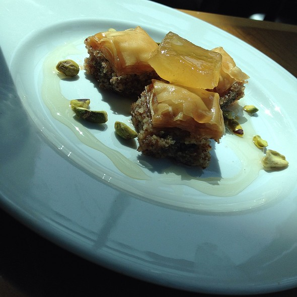 Baklava Bites With Housemade Citron - Faz Pleasanton, Pleasanton, CA