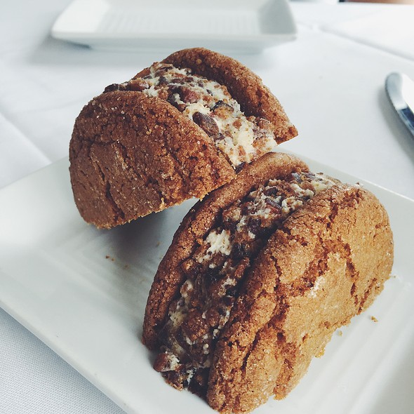 Sorghum Cookie Sandwich With Buttercream & Candied Bacon - Harvest - Louisville, Louisville, KY