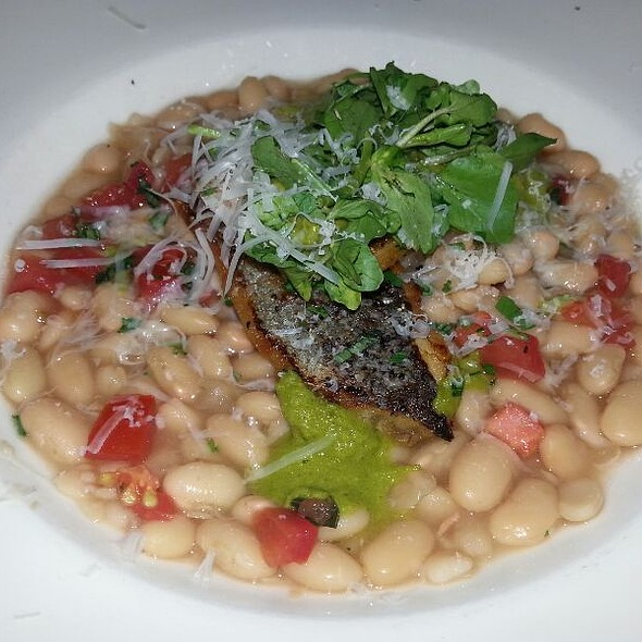Bronzini With White Beans And Ginger Wasabi Pistou - Stella Modern Italian Cuisine, Oklahoma City, OK