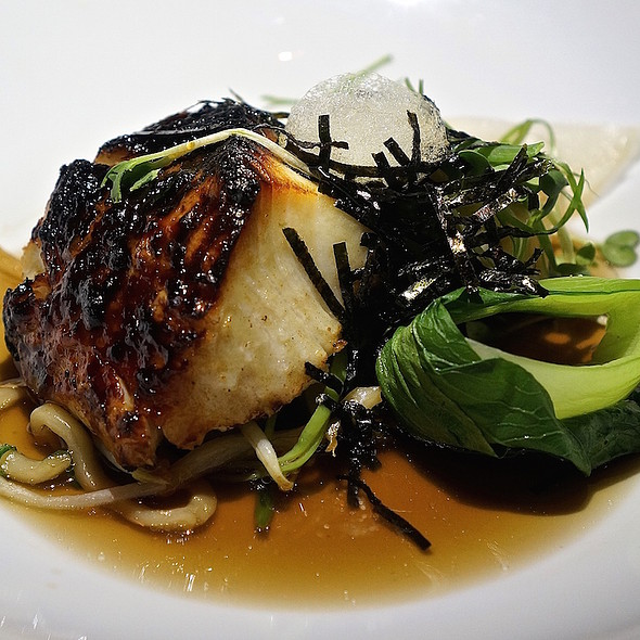 Morro Bay black cod, miso, laughing bird shrimp, chop suey vegetables, bok choy, mustard, mushroom essence - Bourbon Steak Monarch Beach, Dana Point, CA