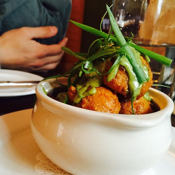 Crab Stuffed Hush Puppies - Cafe Genevieve, Jackson, WY