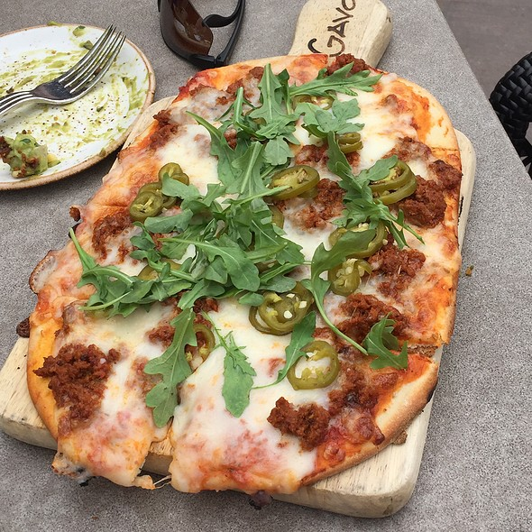 Spicy Chorizo Flat Bread - Tii Gavo, a gathering place at Enchantment Resort, Sedona, AZ