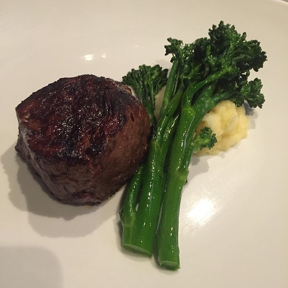 Filet Mignon With Mashed Potatoes And Broccoli Rabe - Center Cut Steakhouse - Flamingo Las Vegas, Las Vegas, NV