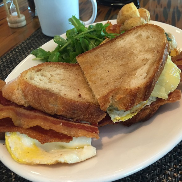 fried egg sandwich - LARK on the Park, Dallas, TX