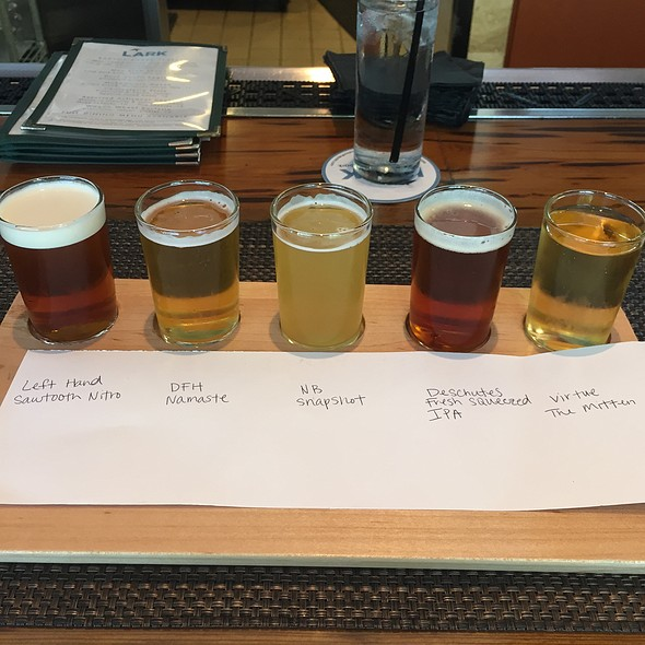 Beer Flight - LARK on the Park, Dallas, TX