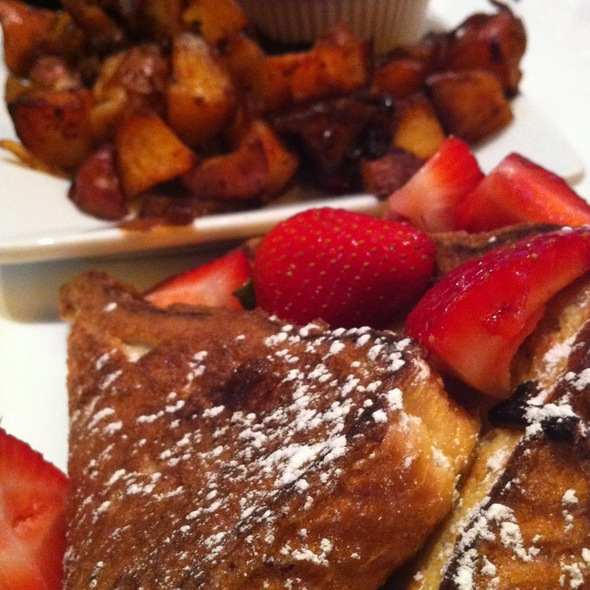 French Toast With Roasted Potatoes - City Table, Boston, MA