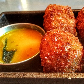 Dirty Rice Fritters - Ms. Rose's, Charleston, SC