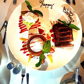 Chocolate Layer Cake, Butter Cake, And Key Lime Pie - Mastro's Steakhouse - Chicago, Chicago, IL