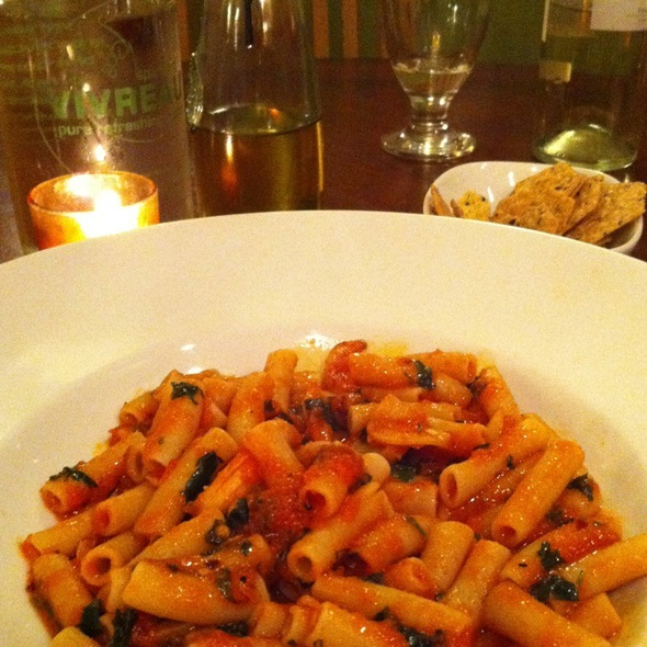 Pasta With Tomato, Garlic And Olive Oil (A.O.P.) - Via 45, Red Bank, NJ