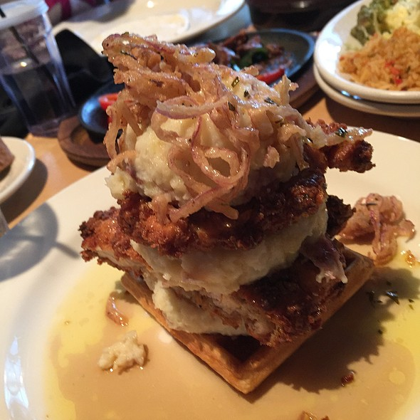 Chicken Fried Chicken And Waffle With White Cheddar Mashed Potatoes - Walnut Brewery, Boulder, CO