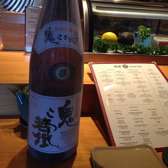 Onigorishi Junmai Daiginjo - Sushi Sho, El Cerrito, CA