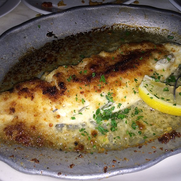 Broiled Haddock, Olive Oil, Garlic, Romano, Breadcrumbs - The Daily Catch Seaport, Boston, MA
