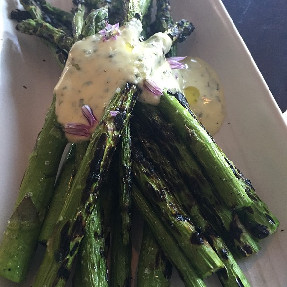 Grilled Asparagus With Bearnaise - CRU Nantucket, Nantucket, MA