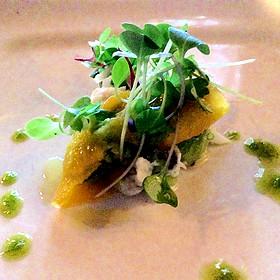 Peekytoe Crab & Kiwi Salad, Mango Ravioli - Chez Francois - Vermilion, Vermilion, OH
