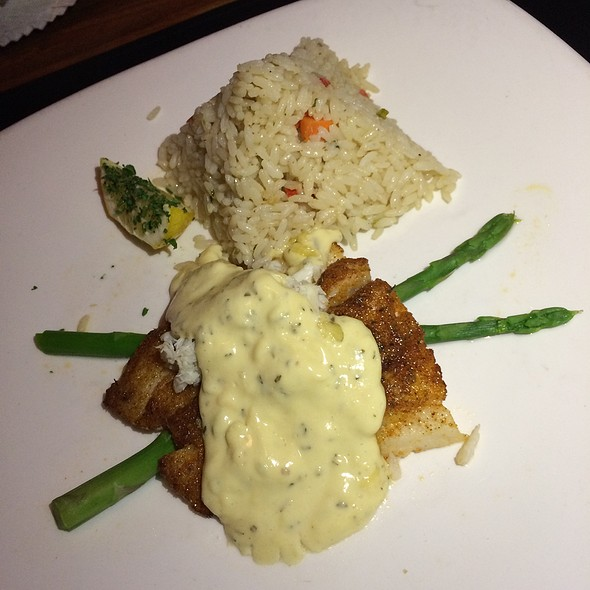 Sea Bass Oscar Style - Chart House Restaurant - Monterey, Monterey, CA
