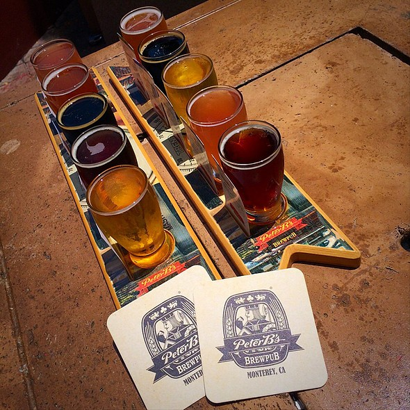 Beer Flight - Peter B's Brewpub, Monterey, CA