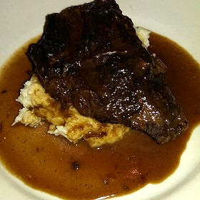 Braised Beef Short Rib with Mashed Potatoes  - Lidia's Pittsburgh, Pittsburgh, PA