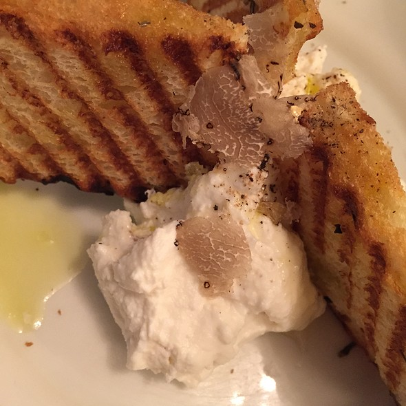 Whipped Ricotta & Truffle Honey, Crostini - Cecconi's, West Hollywood, CA