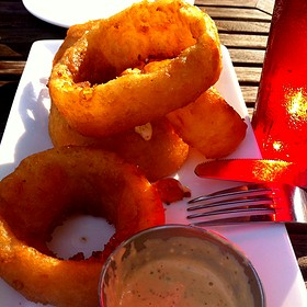Giant Mutant Onion Rings - Bud Brew House, St. Louis, MO