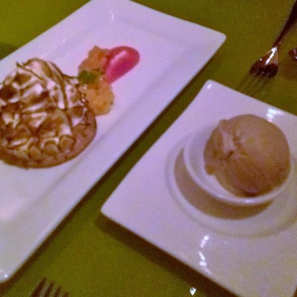 Yuzu meringue tart  yuzu custard, fresh mango, raspberry - Morimoto, Philadelphia, PA