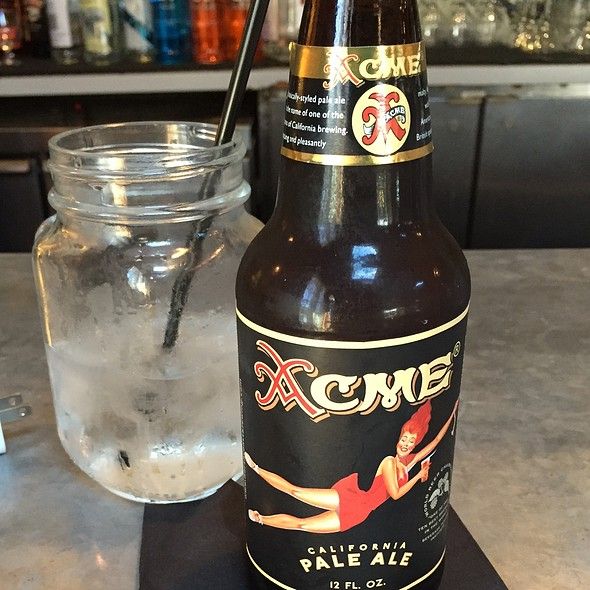 Acme California Pale Ale - TART Restaurant, Los Angeles, CA