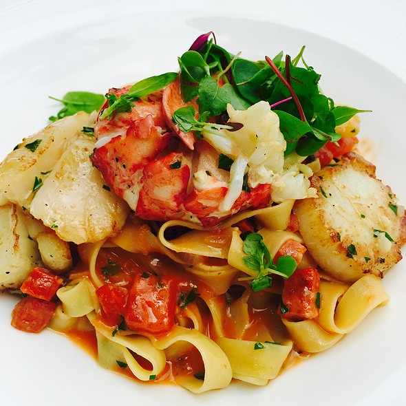 Lobster & Scallops Papardelle - THE Blvd - Beverly Wilshire Hotel, Beverly Hills, CA