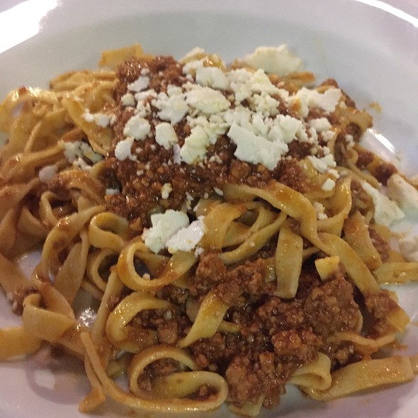 Fettuccine Bolognese - Cotto Wine Bar Restaurant, Stamford, CT