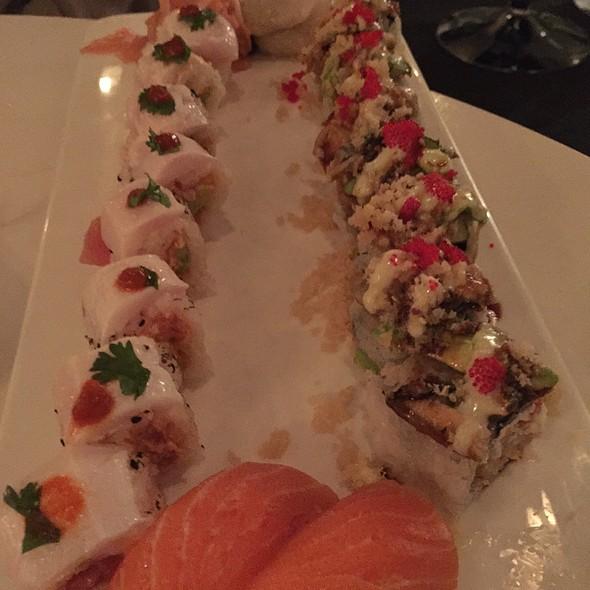 Devil Tuna Roll, Friend Roll And Sake And Hotate Nigiri - Friends Sushi on Rush, Chicago, IL