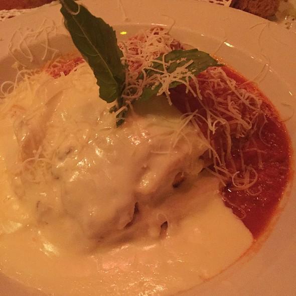 Lasagna - half bechamel, half marinara - Filomena Ristorante, Washington, DC