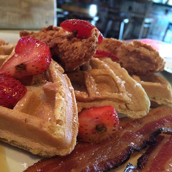 Chicken and Waffles - Brother Jimmy's BBQ - Miami, Miami, FL