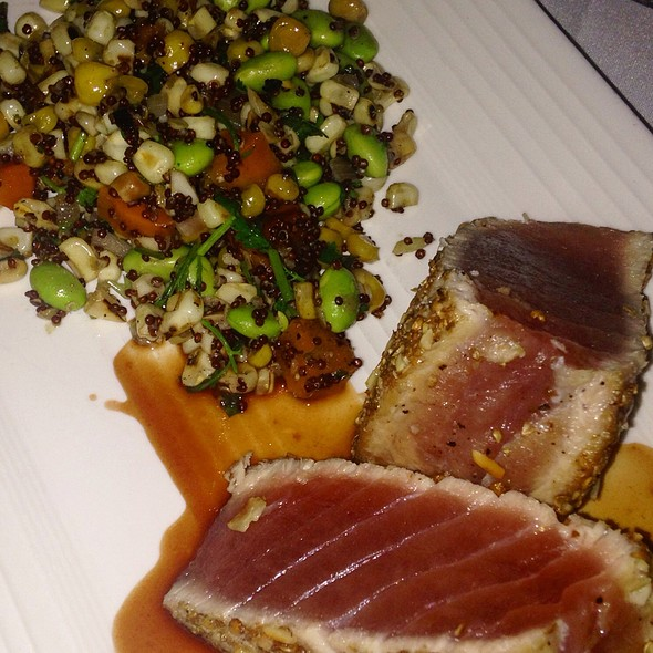 Seared Tuna With Vegetable Succotash - Tomatoes, Margate, NJ