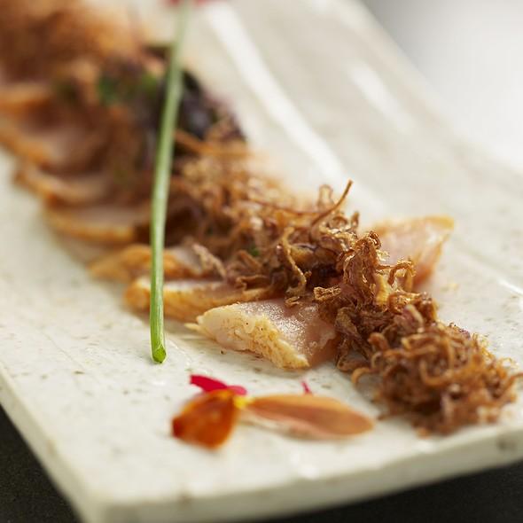 Albacore Sashimi With Crispy Onion - Katsuya- Brentwood, Brentwood, CA