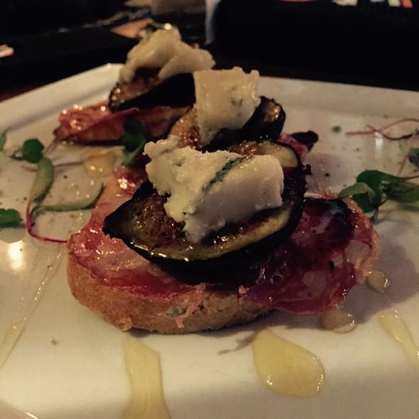 Fresh Figs, Gorgonzola Dolce, Sopressata & Local Honey Bruschetta - TerraSole Ristorante, Ridgefield, CT