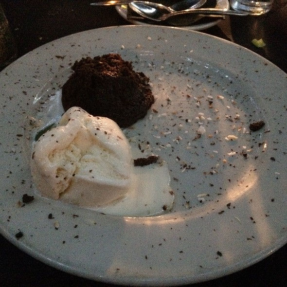Molten Chocolate Cake With Homemade Coconut-Vanilla Ice Cream - Ken & Sue's, Durango, CO