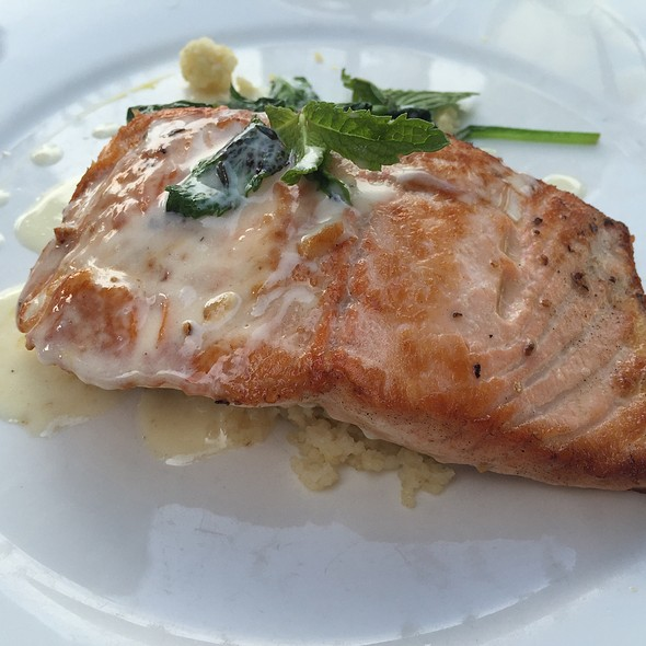 Pan Roasted Salmon - Sam's on the Waterfront, Annapolis, MD