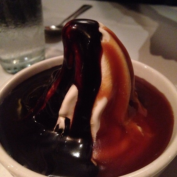 Hot Fudge & Caramel Ice Cream - Picco Restaurant, Larkspur, CA