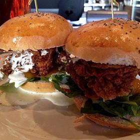 Fried Chicken Sliders - Ten22, Sacramento, CA