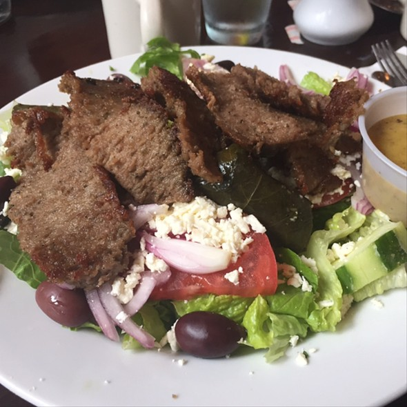 Greek Salad with Gyro meat - Dafni Greek Taverna, New York, NY