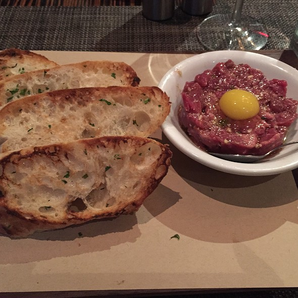 Steak Tartare With Quail Egg - Dallas Chop House, Dallas, TX