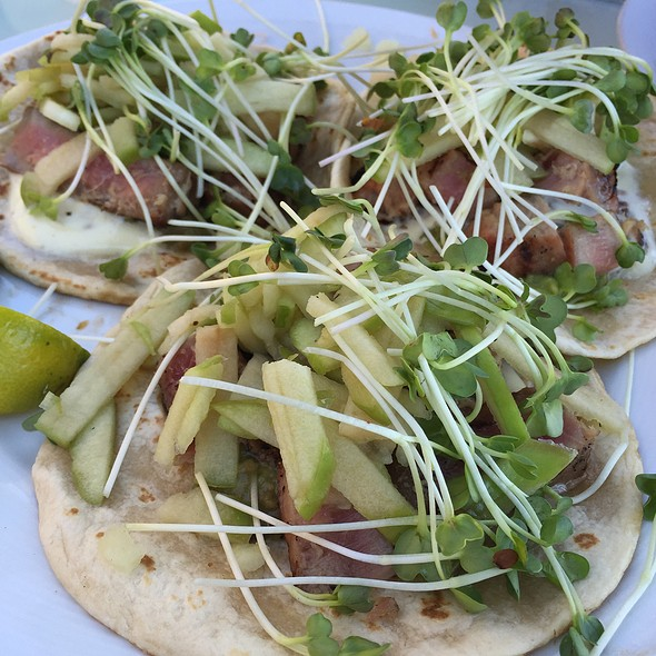 Seared Ahi Fish Tacos - Marisol at the Cliffs Resort, Pismo Beach, CA